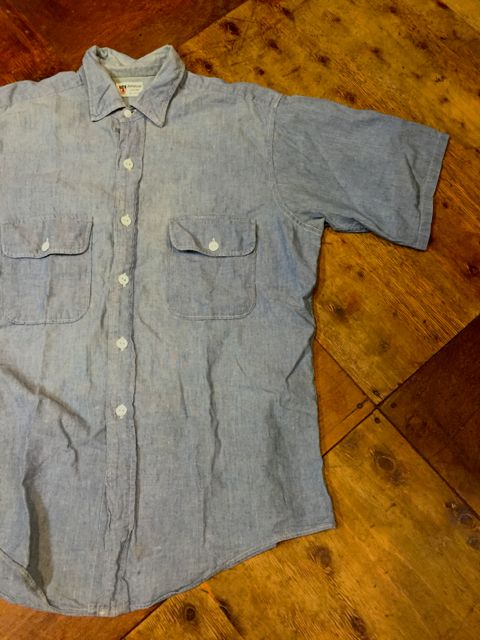 平日ですが、入荷しております!!60s all cotton !DONEGAL 半袖シャンブレーシャツ!_c0144020_14504868.jpg