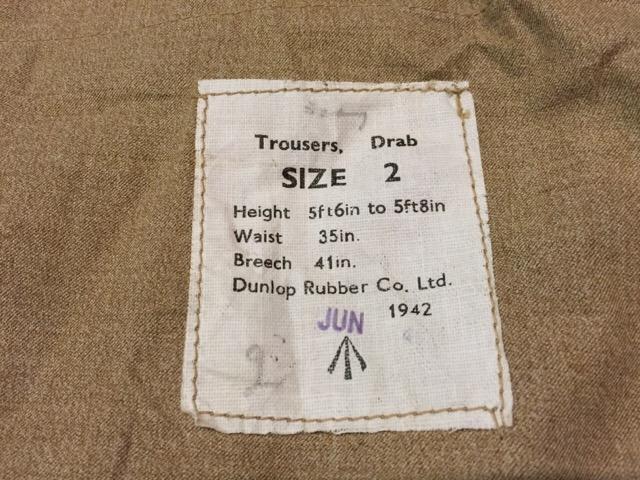 6月1日(水)大阪店ヴィンテージ&スーペリア入荷!!#6 Military編Part1!WWII British SAS Drab Trousers!_c0078587_2334647.jpg