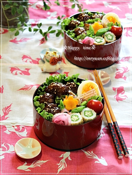肉団子の甘酢あん弁当とラビットラッシュ♪_f0348032_18142107.jpg