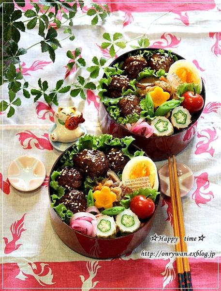 肉団子の甘酢あん弁当とラビットラッシュ♪_f0348032_18143076.jpg