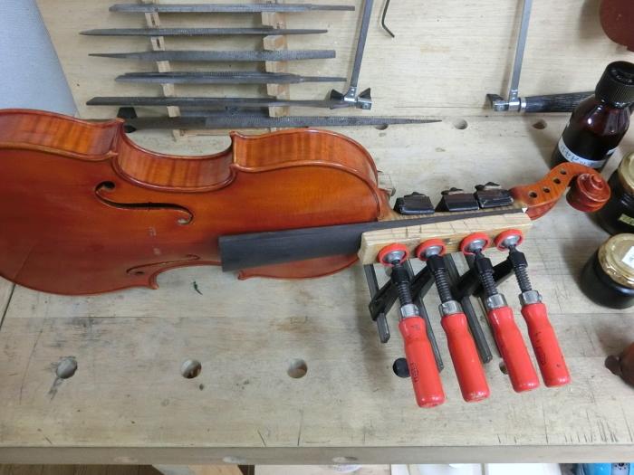 バイオリン 指板交換_d0299605_23334385.jpg