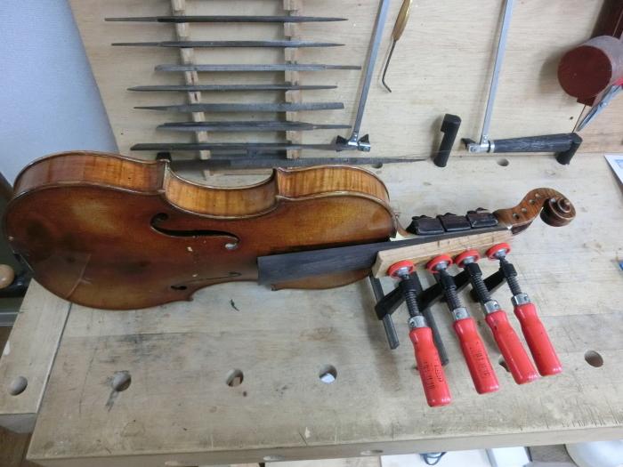 バイオリン 指板交換_d0299605_23403982.jpg