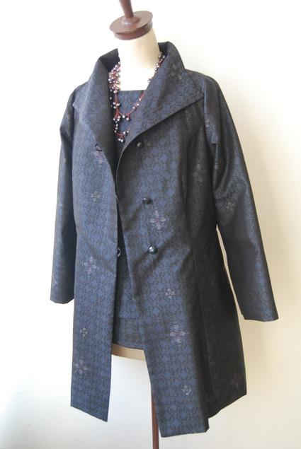 着物リメイク・大島紬からプリンセスラインジャケット&インナー_d0127925_131375.jpg