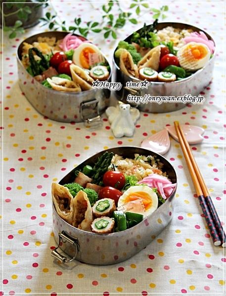 かにかま炒飯弁当と紫陽花の季節♪_f0348032_18502770.jpg