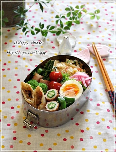 かにかま炒飯弁当と紫陽花の季節♪_f0348032_18503617.jpg