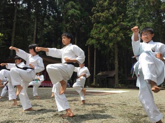 護山神社春の祭典(空手奉納)_d0010630_16213656.jpeg