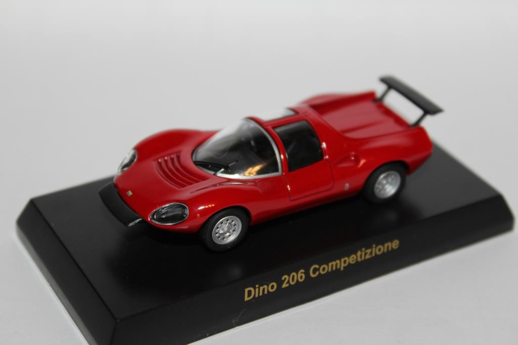 Kyosho 1//64 FERRARI DINO 206 COMPETIZIONE RED diecast car model
