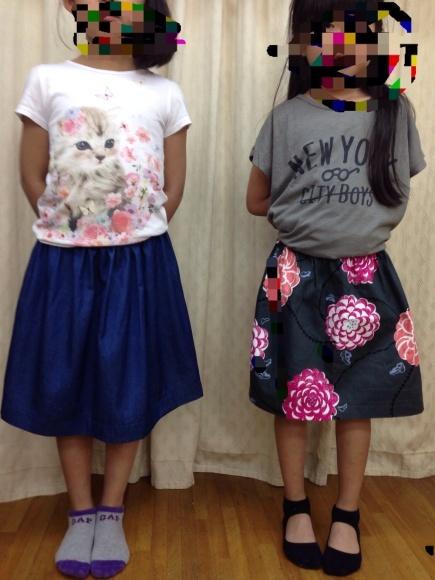 キッズソーイング教室  (子供洋裁 子供手芸)ギャザースカートができました_d0318597_09314389.jpg