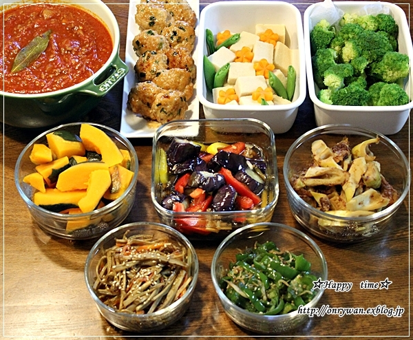 常備菜作りと見せる収納キッチンに挑戦♪_f0348032_18403584.jpg