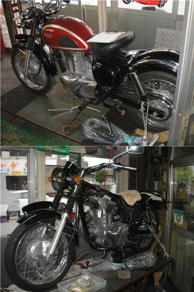 KAWASAKI エストレア 部品交換と整備_e0218639_21372376.jpg