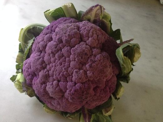 紫カリフラワーの温サラダ_a0136671_23444980.jpg