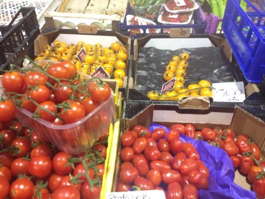 黄&赤トマトのカラフルパスタ_a0136671_23383340.jpg