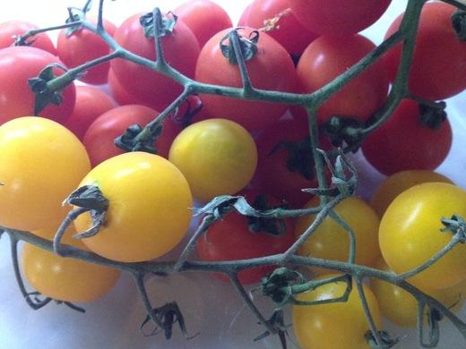 黄&赤トマトのカラフルパスタ_a0136671_23415141.jpg