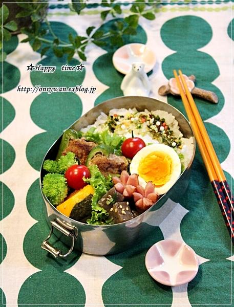 ピーマンの肉詰め弁当とクグロフでアーモンドミルクパン♪_f0348032_19072393.jpg
