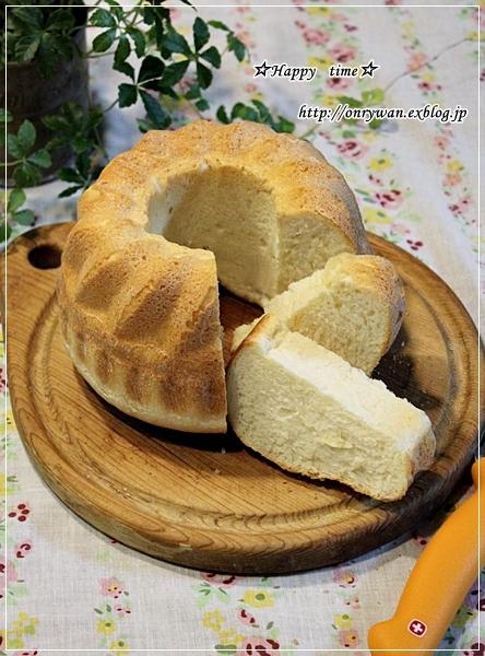 ピーマンの肉詰め弁当とクグロフでアーモンドミルクパン♪_f0348032_19073912.jpg