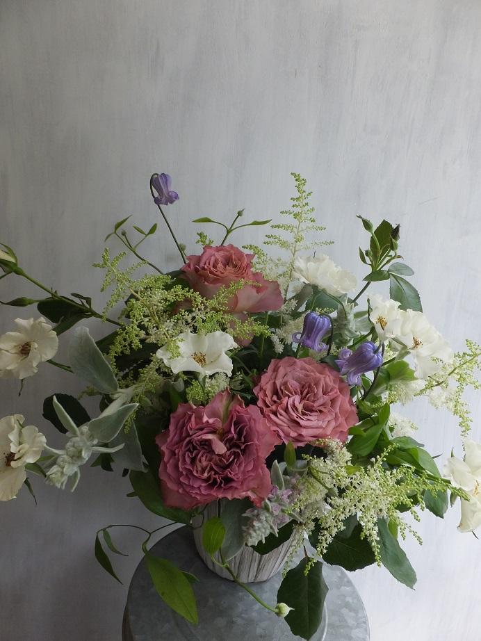オークリーフ(市川さんのバラ・オードリーを入れたアレンジメント)_f0049672_1820593.jpg