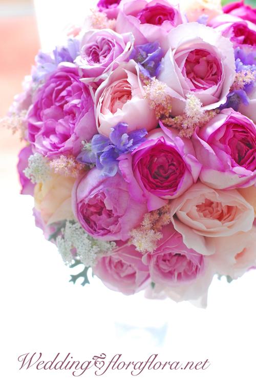4種のバラ その芳香は幸せしるし イブピアチェ、イブミオラ、アンブリッジローズ… delivered to アニヴェルセルみなとみらい様 東京目黒不動前ふらわースタジオフローラフローラ_a0115684_19272519.jpg