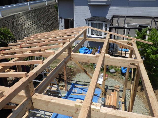 作業小屋新築  進行中。_f0105112_464510.jpg