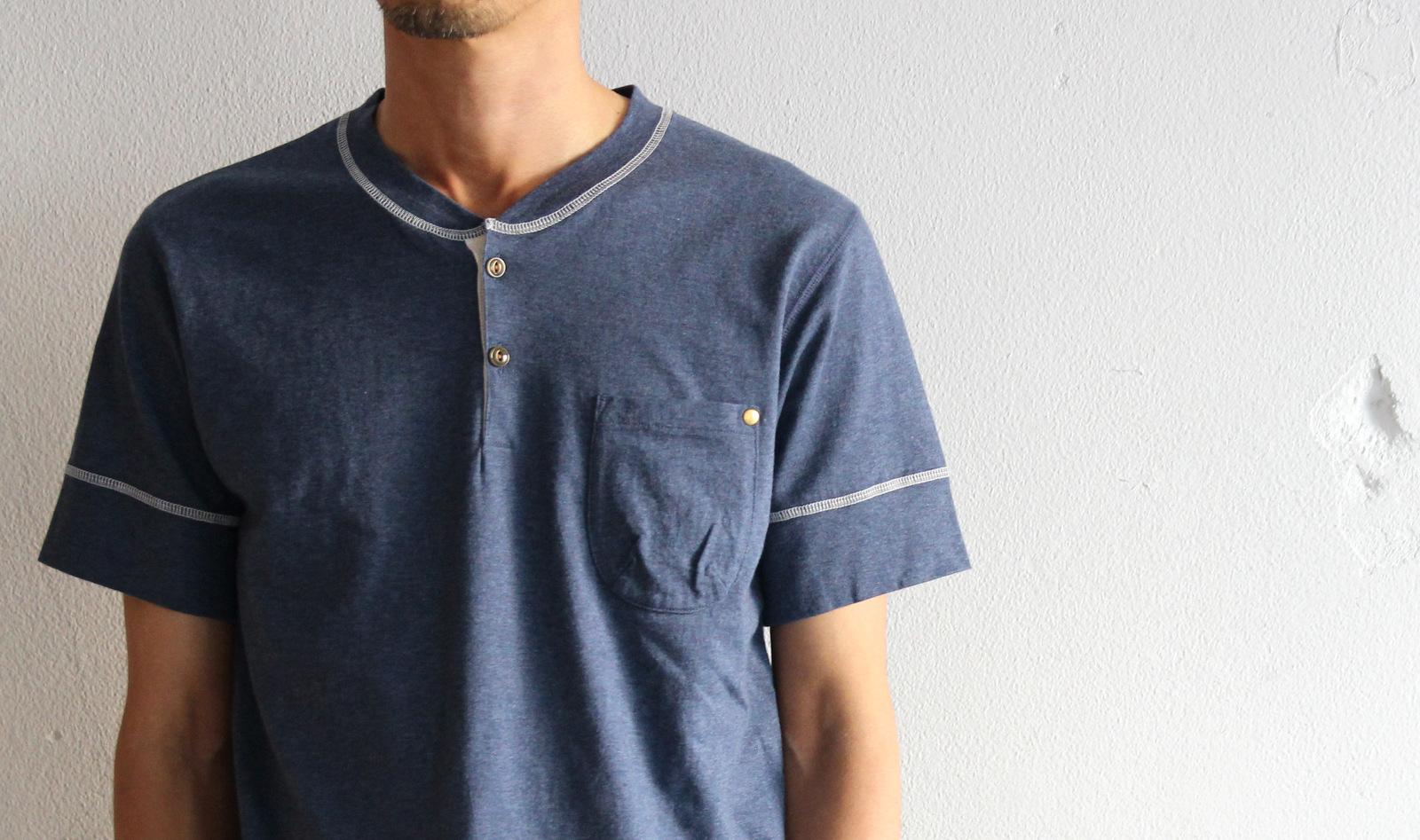 Classic Henley Neck T-shirt _e0142928_18424766.jpg