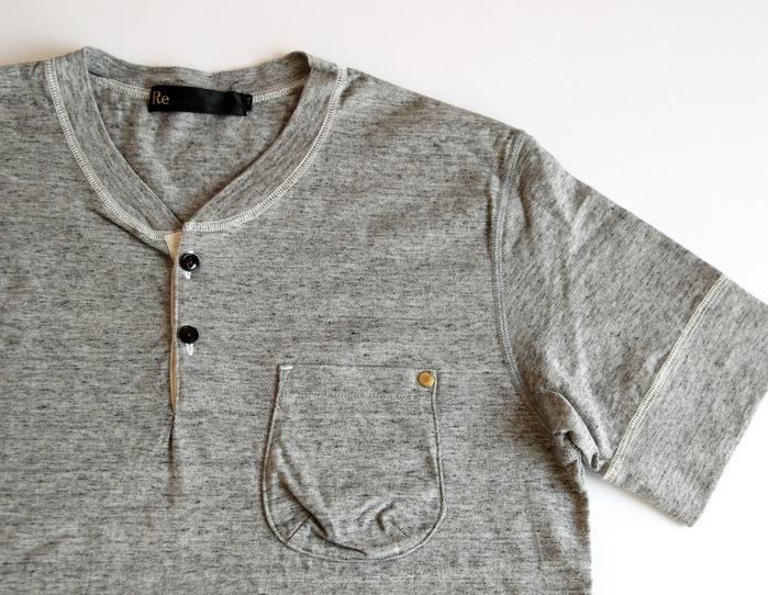 Classic Henley Neck T-shirt _e0142928_18435925.jpg