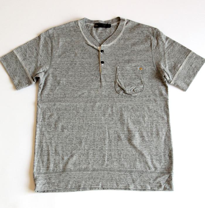Classic Henley Neck T-shirt _e0142928_18441643.jpg