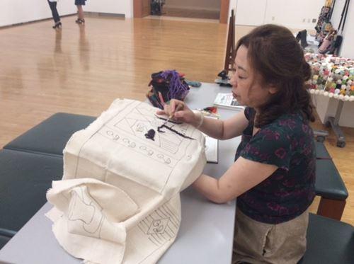 田尻砂津子フックド・ラグ展に行きました。_c0357605_16393461.jpg