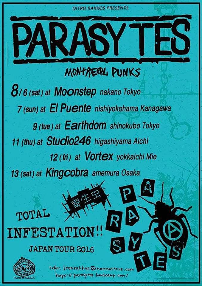 PARASYTES JAPAN TOUR_c0234515_14334277.jpg