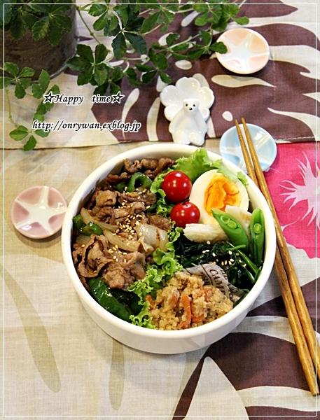 焼肉のっけ盛り弁当と~♪_f0348032_05473281.jpg