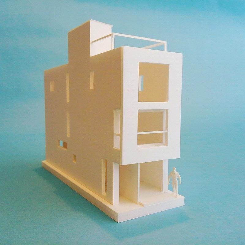 「蔵前の家」模型_f0230666_104830.jpg