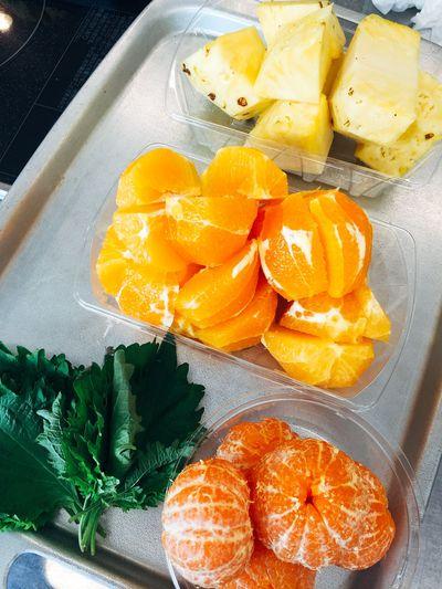 夏の香味野菜もミックス!シソの香りでスッキリスムージーの出来上がり!