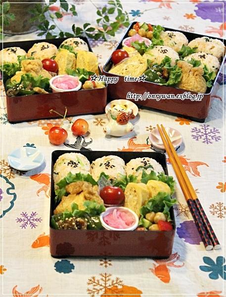 鮭フレーク三つ葉のおむすび弁当と山梨さくらんぼ狩り♪_f0348032_18423764.jpg