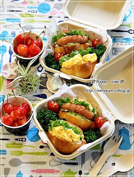 手作りバターロールでドッグパン弁当と鰻丼♪_f0348032_19235695.jpg