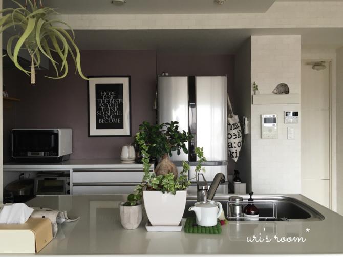 キッチンまたもや模様替え!新しいポスターを飾りました!_a0341288_01294115.jpg