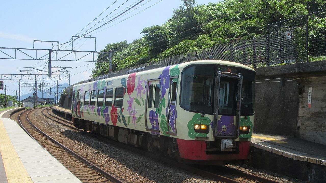 越後トキめき鉄道有間川駅 : く...