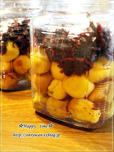 椎茸つくねの照焼き弁当と梅シゴト②♪_f0348032_17555852.jpg