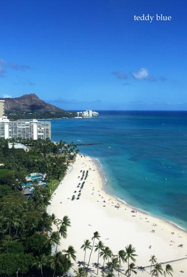 from Waikiki beach, Hawaii  ワイキキビーチ_e0253364_135839100.jpg