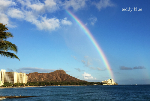 from Waikiki beach, Hawaii  ワイキキビーチ_e0253364_13584893.jpg