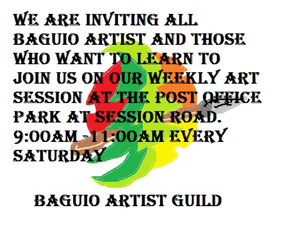 毎週土曜日に オープン アート交流 : Baguio Artist Guild_a0109542_11162183.jpg