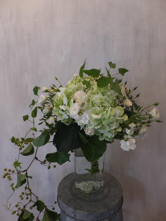 オークリーフ(紫陽花とバラの花束)_f0049672_18182511.jpg