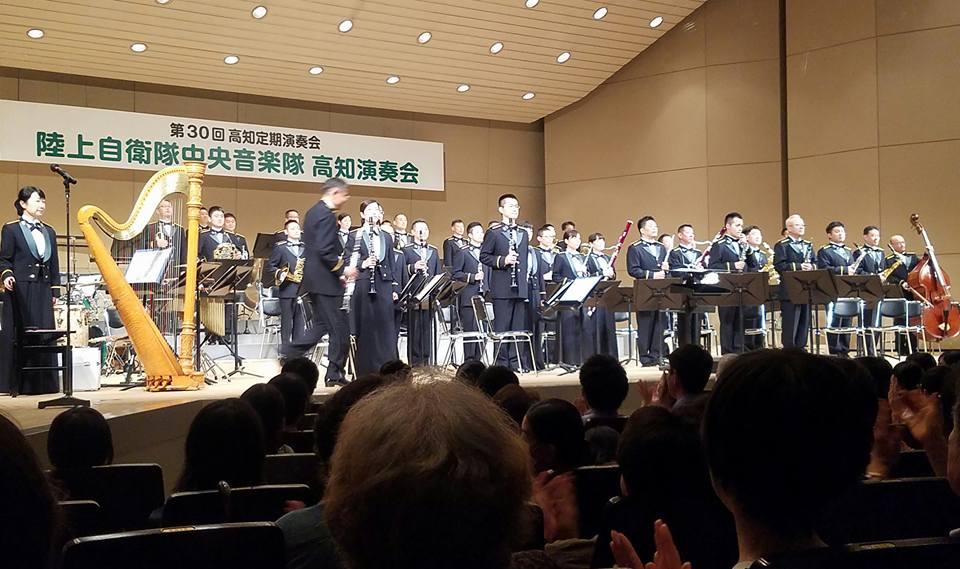 「陸上自衛隊中央音楽隊」の高知で12年振りの演奏会に来ています。_c0186691_10215891.jpg