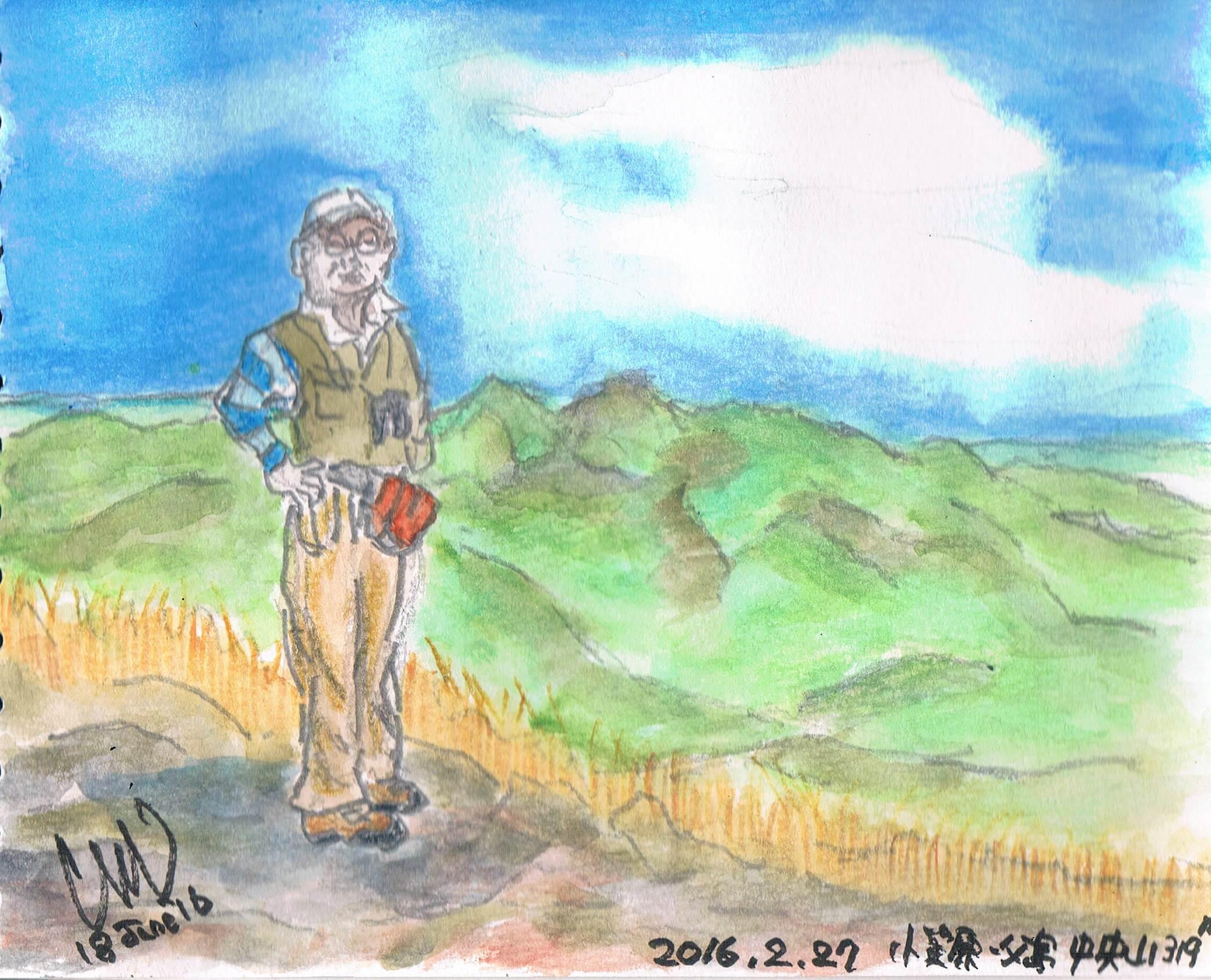 小笠原・父島中央山を描きました_e0232277_1664388.jpg