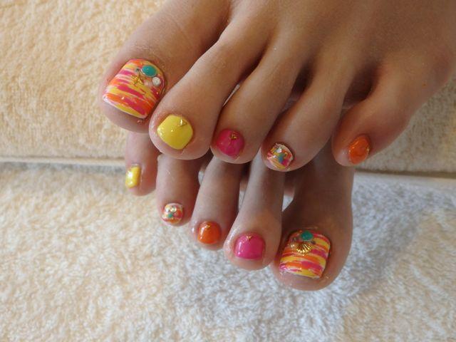 Summer Foot Nail_a0239065_15520807.jpg