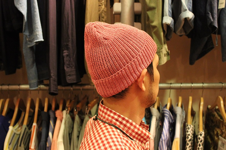 "SLOW ""LINEN WATCH CAP by TOOLS\"" ご紹介_f0191324_9191368.jpg"