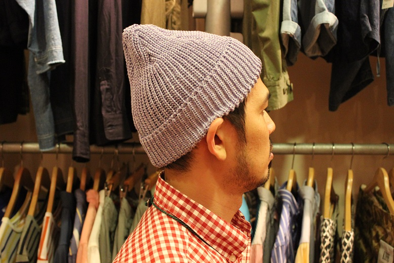 "SLOW ""LINEN WATCH CAP by TOOLS\"" ご紹介_f0191324_9194360.jpg"