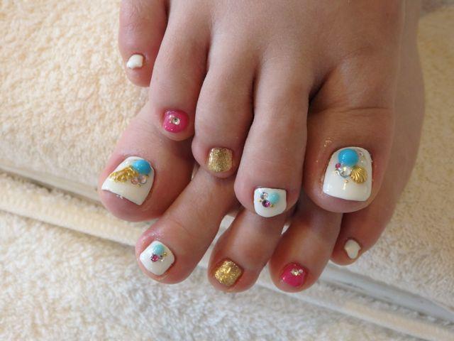 Summer Foot Nail_a0239065_17260185.jpg