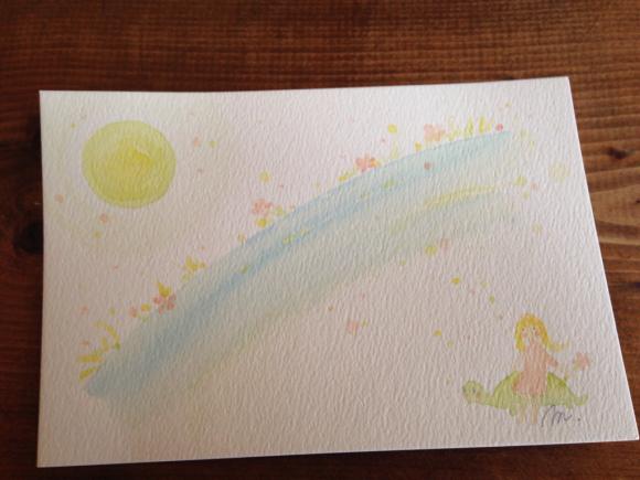 光とカメと花の流れ  インスピアート***_e0290872_22320981.jpg
