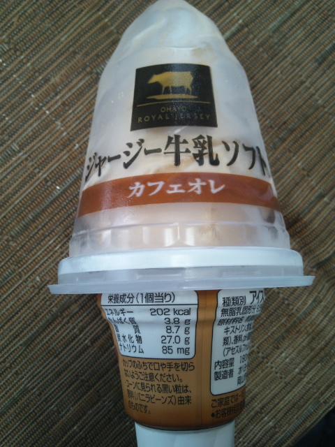 ジャージー牛乳ソフト カフェオレ_f0076001_22452133.jpg
