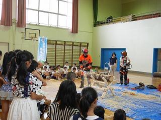 出張林業教室@長田北小学校_d0180132_1711480.jpg