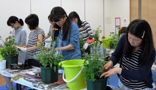 講座「夏から秋まで楽しむ寄せ植えを作りましょう」_f0139333_018332.jpg
