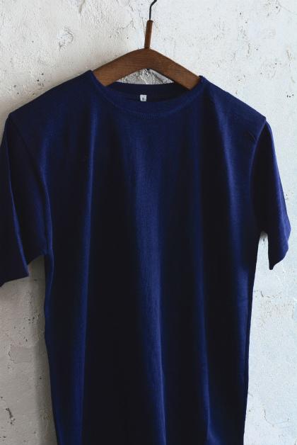 Italian navy boatneck wool t-shirts_f0226051_12073401.jpg